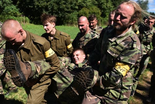 WHEN THE WAR COMES - the paramilitary group Slovenskí branci training